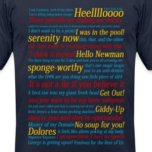 Seinfeld References - Men's T-Shirt by American Apparel