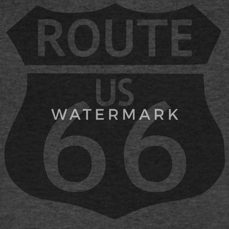 ROUTE 66 - Men's V-Neck T-Shirt by Canvas