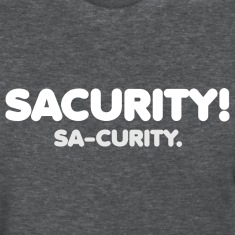 "GIRLS Bon Qui Qui Security ""Sacurity!"" Tee White"