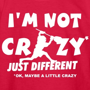 I'm Not Crazy, Lacrosse Goalie Kids' Shirts - Kids' Long Sleeve T-Shirt