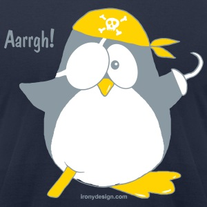 Cute Pirate Penguin - Men's T-Shirt by American Apparel