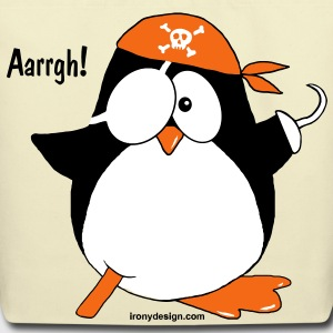 Cute Pirate Penguin - Eco-Friendly Cotton Tote