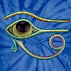 Egyptian eye - Unisex Tie Dye T-Shirt