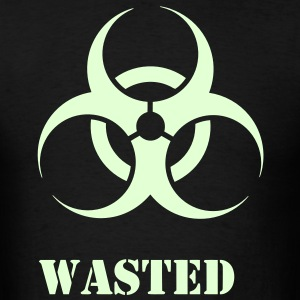 Wasted t-shirt with Glow in the Dark Print - Men's T-Shirt