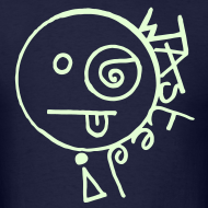 Design ~ Wasted Smiley Face with Glow in the Dark Print
