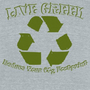 Green T Shirt - Unisex Tri-Blend T-Shirt by American Apparel