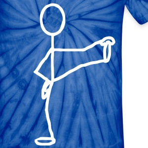 Yoga stick man - Unisex Tie Dye T-Shirt