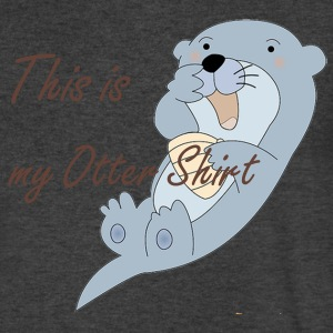 Otter Shirt - V Neck - Men's V-Neck T-Shirt by Canvas
