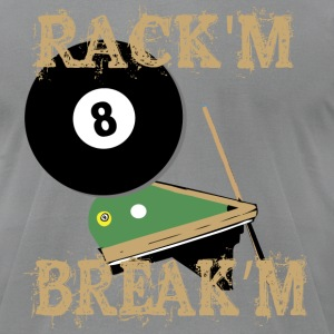 Billiards - Rack'm Break'm - Pool table - Men's T-Shirt by American Apparel