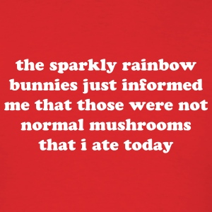 SPARKLY RAINBOW BUNNIES - Men's T-Shirt