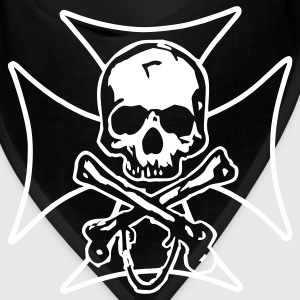 biker cross  skull and crossbones Caps - Bandana