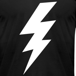 thunder lightning bolt flash T-Shirts - Men's T-Shirt by American Apparel