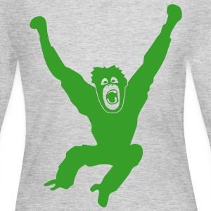Monkey ape chimp gorilla orang utan swing king kong godzilla Long Sleeve Shirts - Women's Long Sleeve Jersey T-Shirt