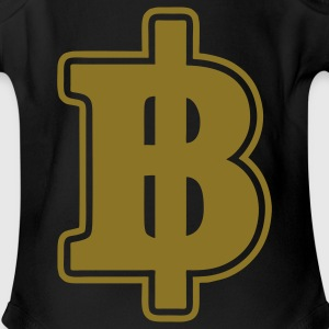 Gold Baht Sign / Symbol Thai / Thailand Money / Currency - Short Sleeve Baby Bodysuit