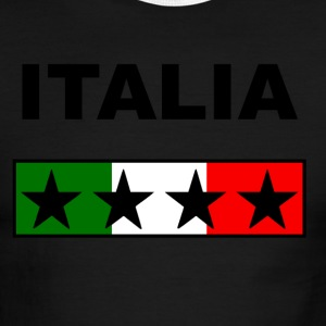 italia_black_Four_stars T-Shirts - Men's Ringer T-Shirt