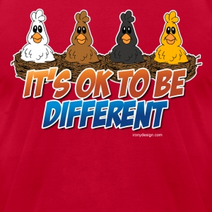 It's OK To be Different - Men's T-Shirt by American Apparel