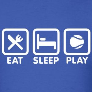 Eat Sleep Playing Tennis T-Shirts - Men's T-Shirt
