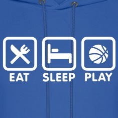 Eat Sleep Play Basketball Hoodies