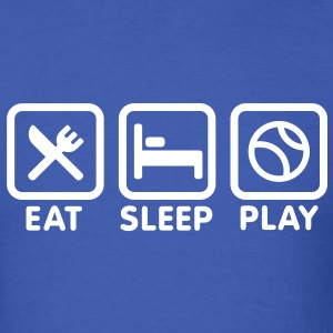 Eat Sleep Play baseball T-Shirts - Men's T-Shirt