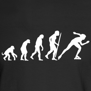 Evolution of inline speed skating  Long Sleeve Shirts - Men's Long Sleeve T-Shirt