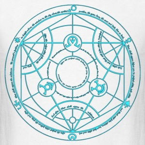 Full Metal Alchemist Circle Baby Blue Male - Men's T-Shirt