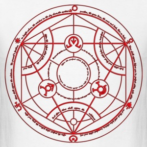 Full Metal Alchemist Circle Red Male - Men's T-Shirt