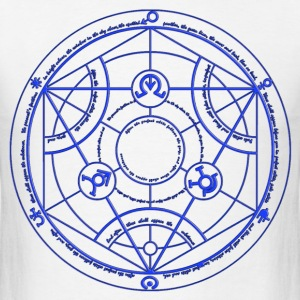 Full Metal Alchemist Circle Blue Male - Men's T-Shirt