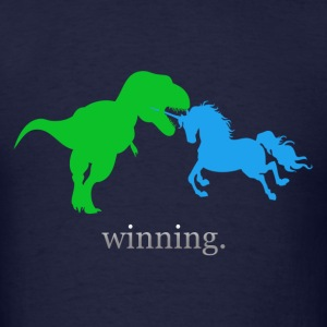 Unicorn Winning T-Shirt (Men's Standard) - Men's T-Shirt