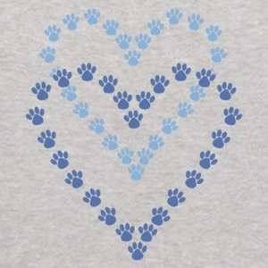 Paws Here Kid's Hooded Sweatshirt Blue Paw Prints - Kids' Hoodie