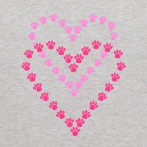 Paws Here Kid's Hooded Sweatshirt Pink Paw Prints - Kids' Hoodie