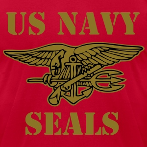 US NAVY SEALS vec T-Shirts - Men's T-Shirt by American Apparel