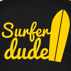 surfer dude with surf board T-Shirts - Men's V-Neck T-Shirt by Canvas