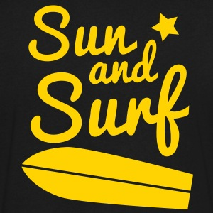 sun and surf with surfboard good for holidays! T-Shirts - Men's V-Neck T-Shirt by Canvas