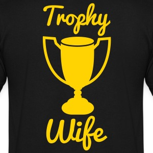 NEW trophy wife T-Shirts - Men's V-Neck T-Shirt by Canvas