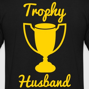 new trophy husband T-Shirts - Men's V-Neck T-Shirt by Canvas