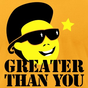 GREATER THAN YOU North korean Dictator Kim Jong il Death T-Shirts - Men's T-Shirt by American Apparel