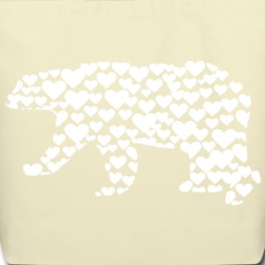 Kantno Polar Bear Hearts Tote - Eco-Friendly Cotton Tote