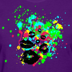 An Explosion of Grafitti Lips - Women's T-Shirt