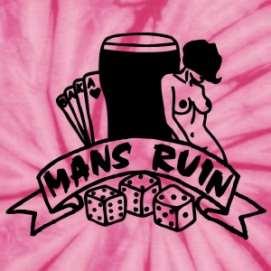 1 col mans ruin pin up girl sex drugs rock n roll T-Shirts - Unisex Tie Dye T-Shirt
