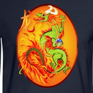 Year Of The Dragon and Symbol - Men's Long Sleeve T-Shirt