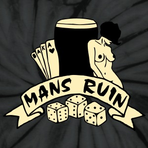 2 col mans ruin pin up girl sex drugs rock n roll T-Shirts - Unisex Tie Dye T-Shirt