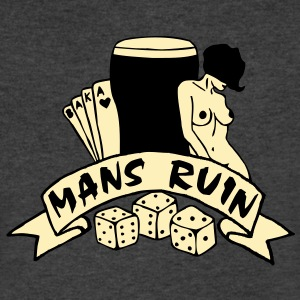 2 col mans ruin pin up girl sex drugs rock n roll T-Shirts - Men's V-Neck T-Shirt by Canvas