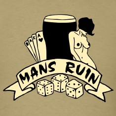 2 col mans ruin pin up girl sex drugs rock n roll T-Shirts