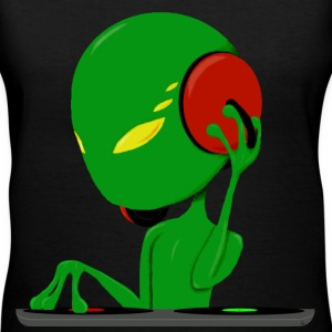 alien dj  - Women's V-Neck T-Shirt