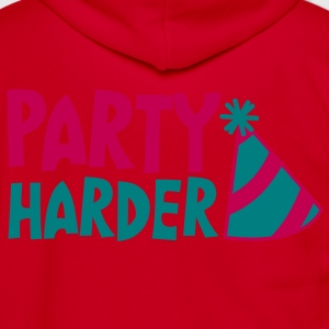 PARTY HARDER with cute entertainment hat Zip Hoodies/Jackets - Unisex Fleece Zip Hoodie by American Apparel