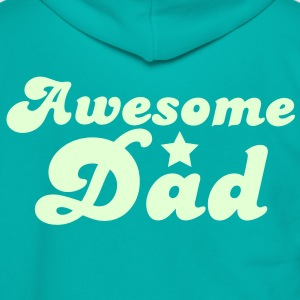 Awesome dad with a star Zip Hoodies/Jackets - Unisex Fleece Zip Hoodie by American Apparel