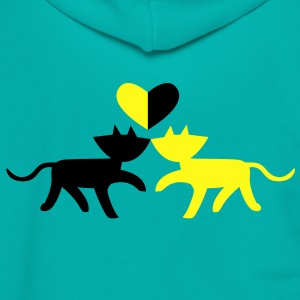 love cats Zip Hoodies/Jackets - Unisex Fleece Zip Hoodie by American Apparel