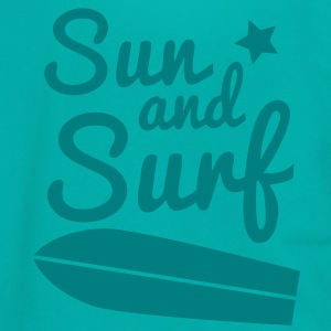 sun and surf with surfboard good for holidays! Zip Hoodies/Jackets - Unisex Fleece Zip Hoodie by American Apparel