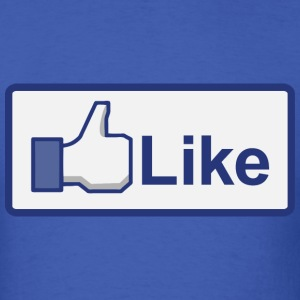 facebook like button T-Shirts - Men's T-Shirt