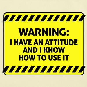 Attitude Warning 2 (2c)++ Bags  - Eco-Friendly Cotton Tote